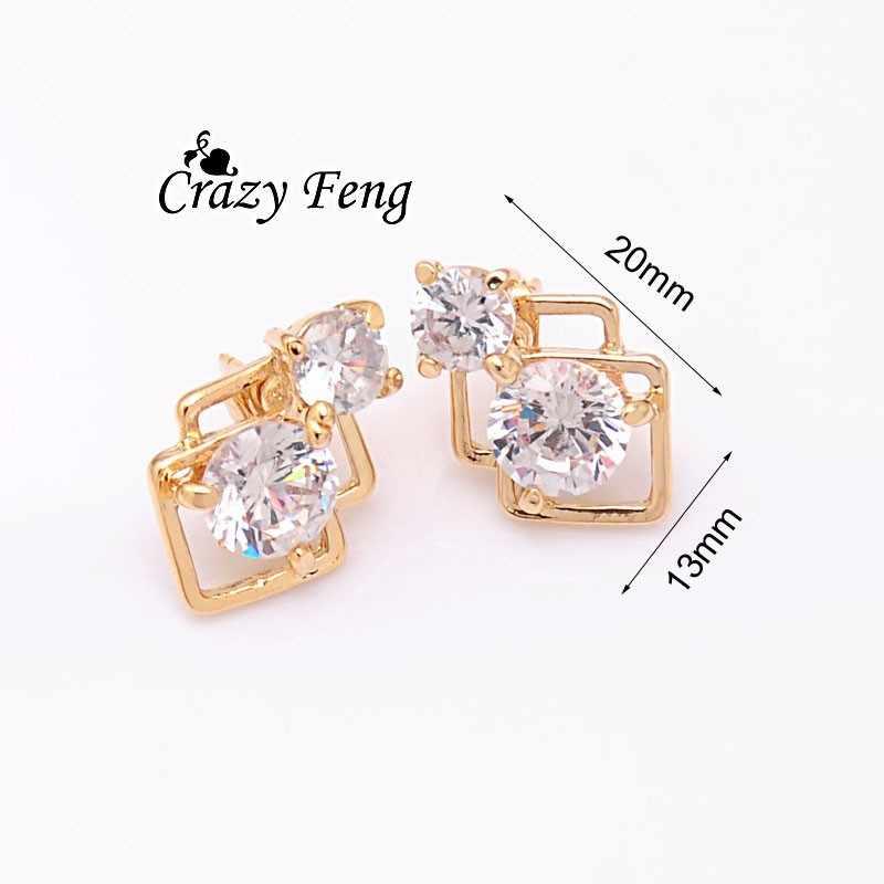 Модный женский золотой набор ювелирных изделий камень кулон ожерелье + серьги ювелирные украшения для свадьбы наборы