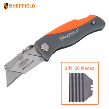 Sheffield Folding Knife Paper cutter tool Heavy Duty Knife Utility Multifunctional Knife Tool with 25 blades