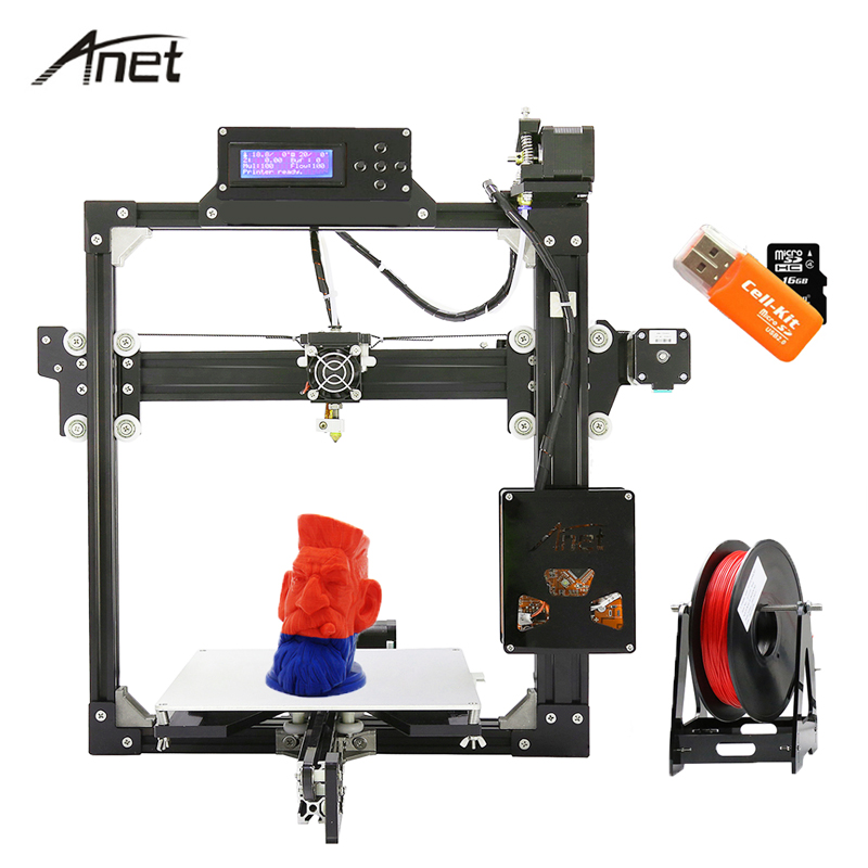 Large Print Size Anet A6 A8 A2 3D Printer High Print Speed Reprap Prusa i3 Toys DIY 3D Printer Kit with Filament Aluminum Hotbed цена в Москве и Питере