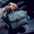 Kavard Trapeze Stone Gourd lock Mini Small Women's Handbag Hand Bag Ladies PU Leather Famous Brands luxury handbags Women Bags