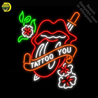 Neon Signs for Tattoo You Neon Light Sign Garage Neon Bulbs sign Glass Tube Decorate Hotel Room Handcrafted make dropshipping