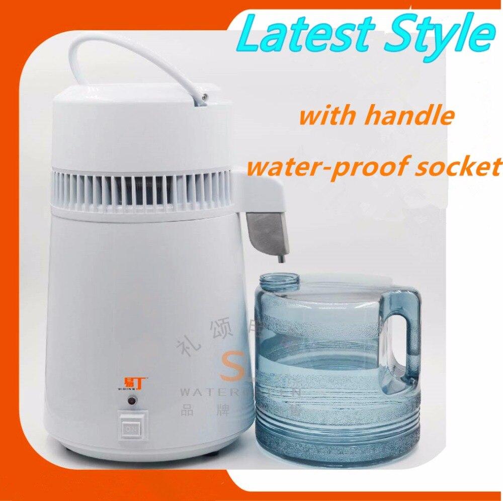 Macchina acqua distillata con copertura In acciaio Inox ciechi/Portatile elettrico puro dental water distiller + 1 pz anello di tenuta