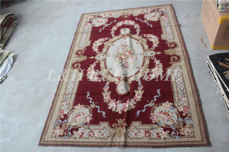 Livraison gratuite 10 K 4'x6 'tapis/tapis en laine à l'aiguille nouée à la main, 100% laine et tapis fait main pour la décoration intérieure
