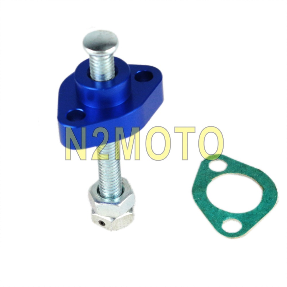 US $14 11 10% OFF|Blue Manual Cam Timing Chain Tensioner for ATV HONDA TRX  250 250X 300EX 500 ATC 250ES 350X 450R 650 680-in Engines from Automobiles