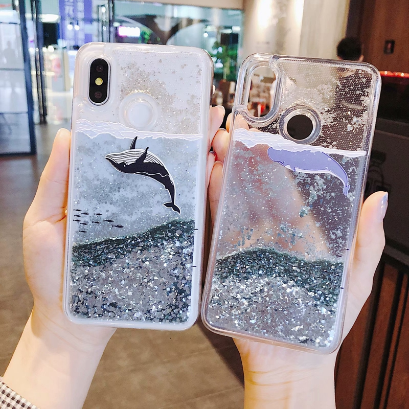 For Huawei honor 8X Liquid Case P Smart Quicksand Back
