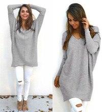 TELOTUNY Мода 4 цвета женский однотонный Повседневный джемпер с длинным рукавом Стандартный свитер блузка Горячая Прямая поставка OB19