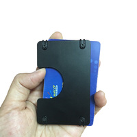 Gibo Auja Brand Aluminum Antitheft Card Holder Minimalist Slim Men Wallet Elastic Card Case Mini Wallet