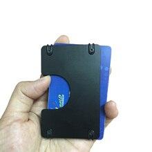 Gibo Auja- Brand Aluminum Antitheft Card Holder Minimalist Slim Men Wallet Elastic Card Case Mini Wallet Organizer Rfid Blocking