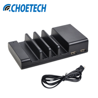 CHOETECH 4 Port USB Desktop Charger Universal Mobile Phone Charging Station Dock For Multiple Devices Smartphone
