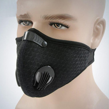 Dust Mask Activated Carbon Dustproof Windproof Foggy Haze Anti-Dust Motorcycle Bicycle Cycling Ski Half Face