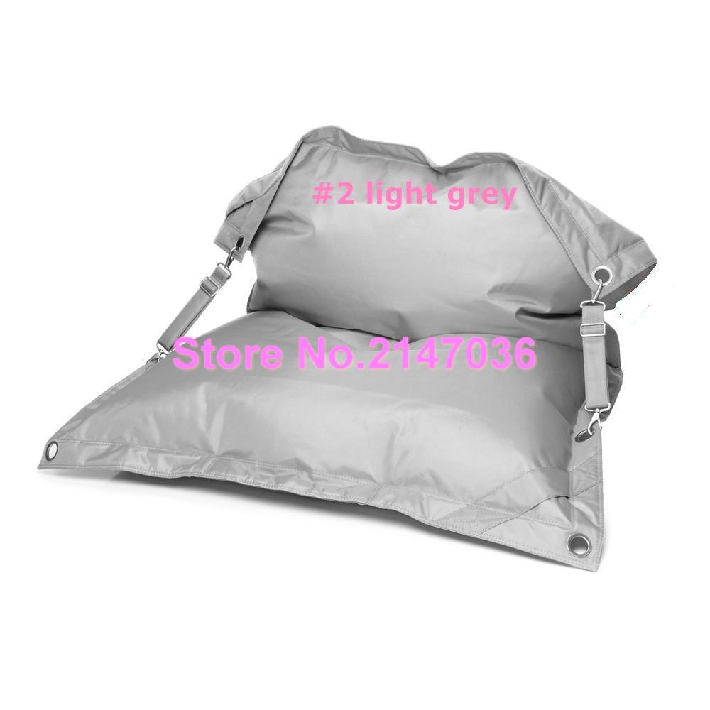 Light grey outdoor furniture bean bag chair, living room buggle up bean sofa ramark,buggle up ctyn kpecno
