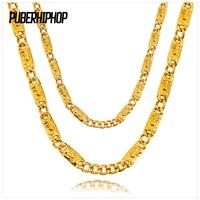 Goede Kwaliteit Gold Filled Jezus Link Chain Hip Hop Sieraden Puck stijl Jezus Hoofd Patroon Cubaanse Voor Mannen Vrouwen Groothandel