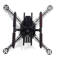 FPV Carbon Fiber Tube Multi function T Type Tall Landing Gear Skid Quick Install for RC Quadcopter Multicopter S500 S550 F550