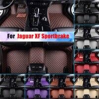 Waterproof Car Floor Mats For Jaguar XF Sportbrake All Season Car Carpet Floor Liner Artificial Leather Full Surrounded