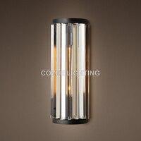 Moern Винтаж настенное бра лампа Cristal Настенные светильники для дома ресторан отеля жизни и Украшения для обеденной