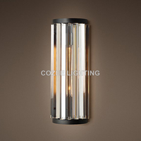 Moern Vintage Crystal Wall Sconce Lamp Cristal Wall Light Lighting for Home Hotel Restaurant Living and Dining Room Decor