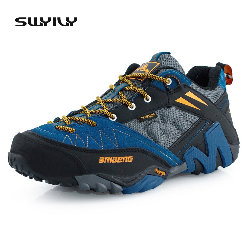 SWYIVY Men's Winter & Fall Leather Outdoor Hiking Trekking Boots Shoes Sneakers For Men Sport Climbing Mountain Boots Shoes Man famous brand men s winter outdoor hiking trekking boots shoes for men warm leather climbing mountain hunting boots man quality