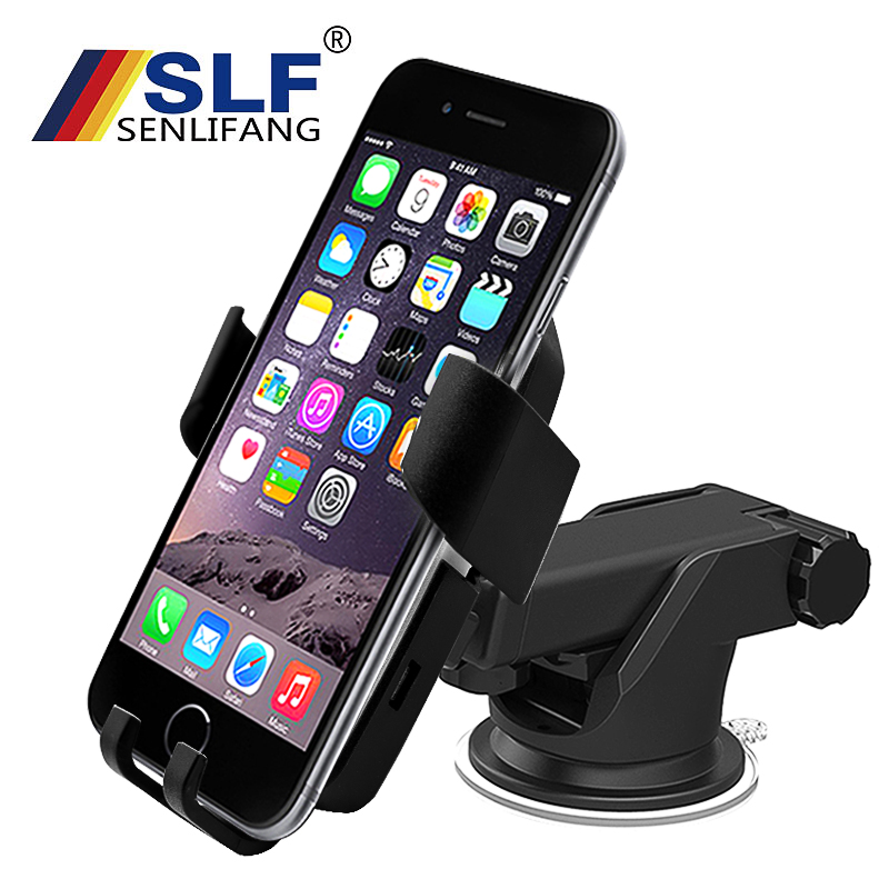 Qi Standard Mobile Phone Wireless Charger Fast Charger Wireless Charging Car Phone Holder Stand For Samsung S8 Note 8 S9 Note 8