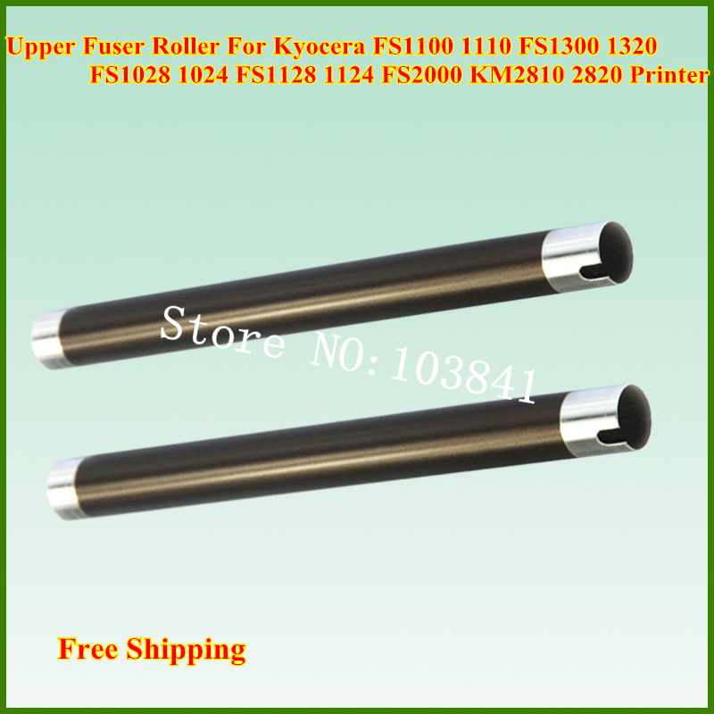 10pcs/lot Upper Fuser Roller for Kyocera FS1100 1110 FS1300 1320 FS1028 1024 FS1128 1124 FS2000 KM2810 2820 Heating roller new upper fuser roller for kyocera fs 2020d 3920dn 4020dn fs 3900dn 4000d upper fuser roller