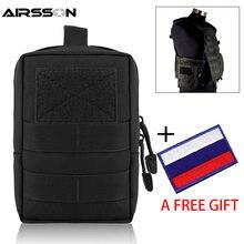 Bolsa táctica militar Molle EDC bolsa de cintura portátil al aire libre caza Camping accesorios bolsas equipo de utilidad con parche de bolsa