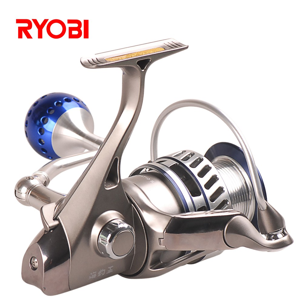 RYOBI Fishing King III 6000 8000 Size 6+1 BB Spinning Reels 5.0:1 Drag power 10kg Carp Weeve Feeder Carretilha Para Pesca Fish hb 2706105 27 6v1 5a 13 9w us plug charger for lead acid battery black ac 100 240v