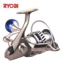 RYOBI Fishing King III 6000 8000 Size 6+1 BB Spinning Reels 5.0:1 Drag power 10kg Carp Weeve Feeder Carretilha Para Pesca Fish