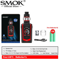 Original SMOK SPECIES Kit 230W Mod With 18650 Battery 5ml TFV8 Baby V2 Tank Electronic Cigarette Vape Kit VS X PRIV Vaporizer