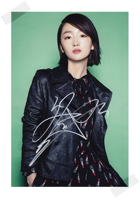 Zhou Dongyu autographed signed  with pen  photo picture 4*6inches  freeshipping 012017 snsd tiffany autographed signed original photo 4 6 inches collection new korean freeshipping 012017 01