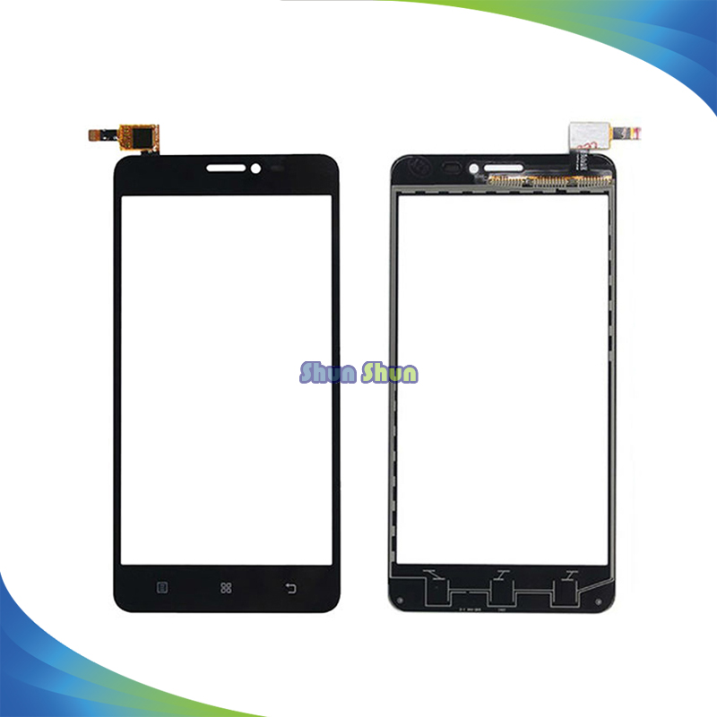 10pcs/lot S850 Touch Screen for Lenovo S850 Touch Screen Digitizer Sensor Front Glass Lens Panel Black White Mobile Phone Parts