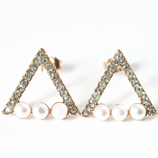 Fashion Evil Eye Heart Crystal Stud Earrings For Women Girls Brand Jewelry Brincos Pendientes Mujer Moda Joyeria Marcas Famosas 4