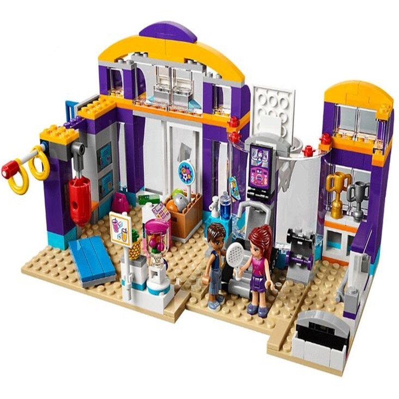 Lepin New Good Girls Series The Lakeheart Sport Centre Set Children Building Blocks Bricks Toys Model Gift 41312 Legoingly new lp2k series contactor lp2k06015 lp2k06015md lp2 k06015md 220v dc