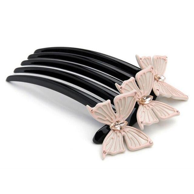 Фото химера модный из ацетата целлюлозы волос боковая расческа элегантный