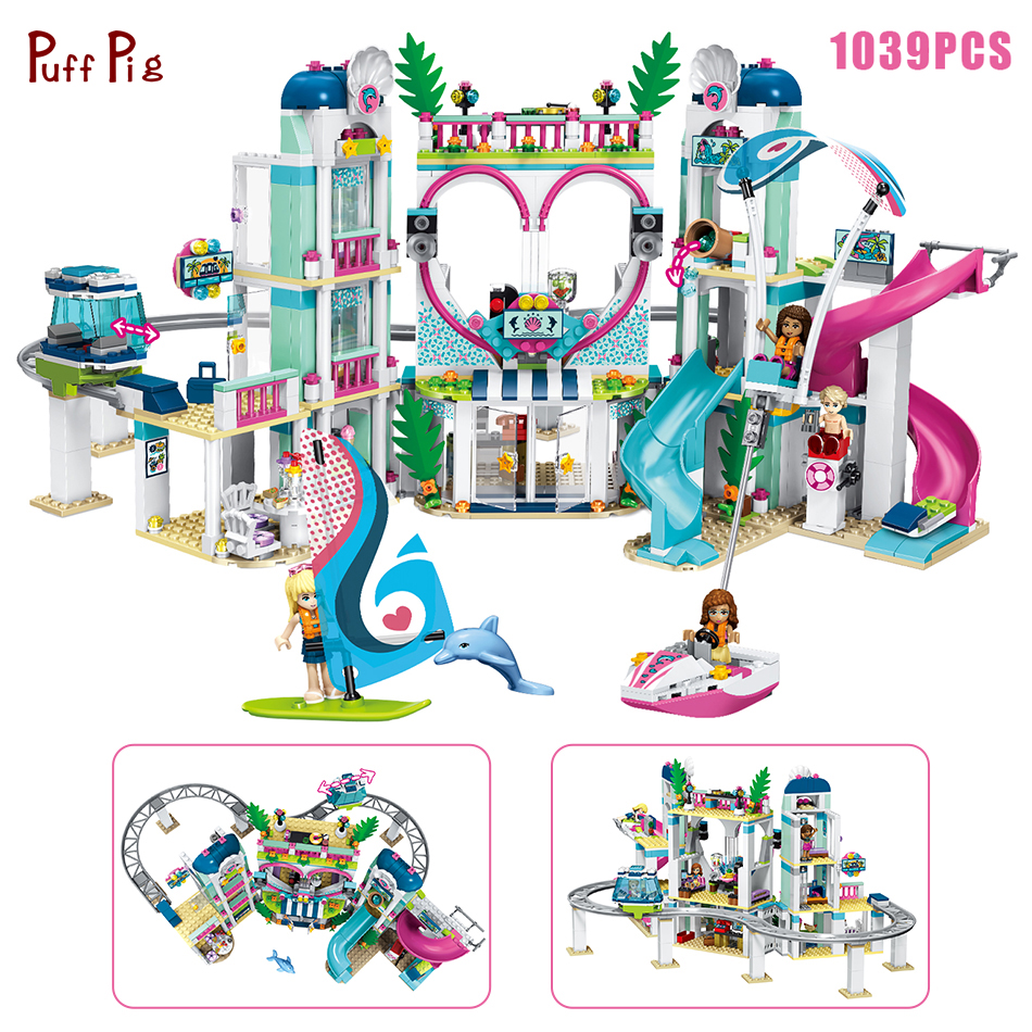 1039pcs Friends Heartlake City Resort Building Blocks Girls Model Figures Bricks Compatible Legoings Friends Toys Gift For Child minecrafted building blocks toys bricks figures compatible legos minecraft friends city toys birthday gift for kids gift toys