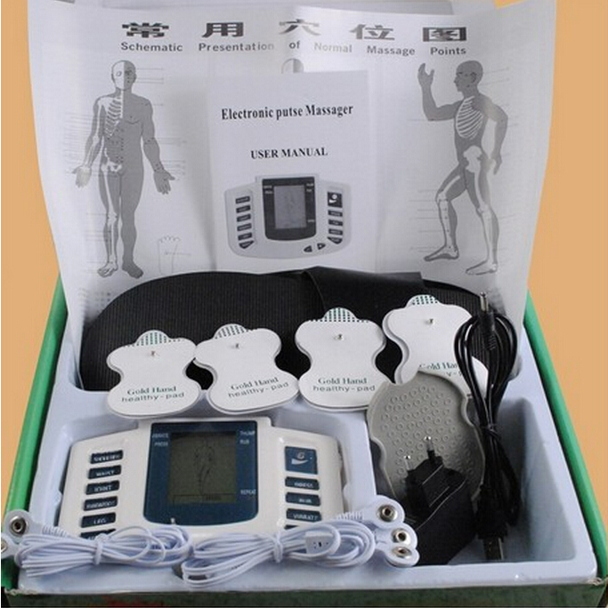 Electrical Stimulator Health care Full Body Relax Muscle Therapy Massager Pulse tens Acupuncture with slipper+ 8 pads JR-309 electric stimulator full body relax muscle therapy massager pulse tens acupuncture foot neck back massage slimming slipper 8 pad