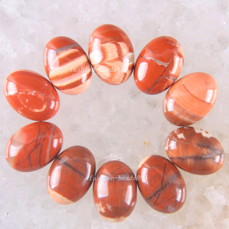 Free Shipping Fashion Jewelry 13x18MM Natural Red Jaspe CAB Cabochon 10Pcs K1611