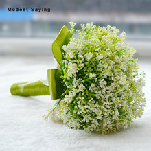 Romantic Green Artificial Flowers Wedding Bouquet 2017 Lavender Bridal Bridesmaid Bouquet Wedding Accessories bouquet de mariage