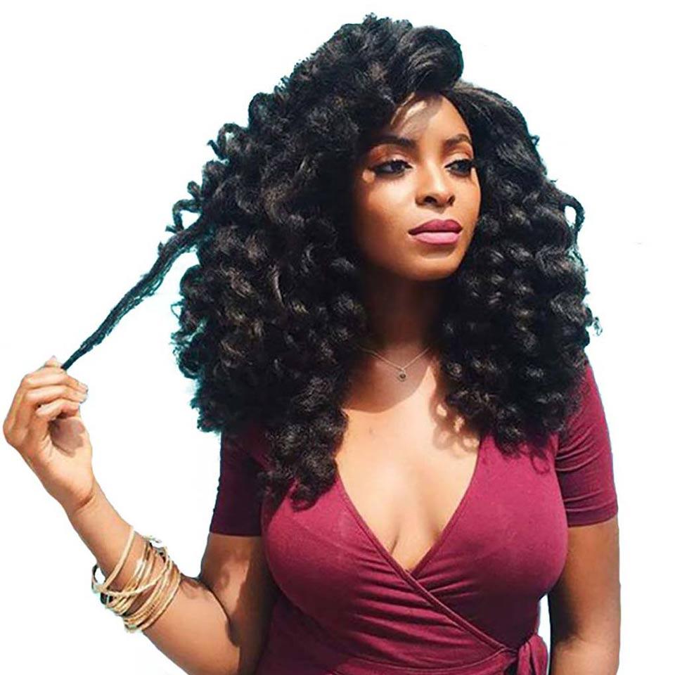 DIFEI JAMAICAN BOUNCE Wand Curl Crochet Hair Synthetic
