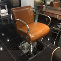 The new European hair salons dedicated hairdressing chair. Haircut chair. The barber chair. Put down the chair