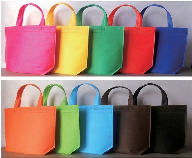 ade12394de2b 10pcs Non Woven Blank Flat Bags Stock Retail Carry Shopping Eco Promotional  Bag Reusable Grocery Cloth Bags Costom Printed Logo