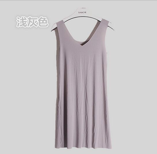 M-5XL Plus size women nightdress model soft night shirt sleeveless sexy v-neck summer dress sleepwear nightgowns female   2