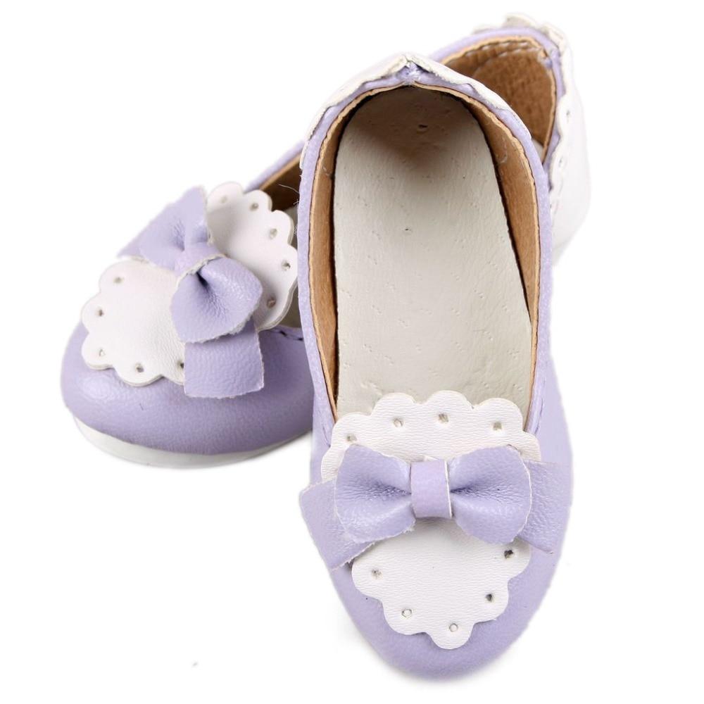 Wamami 1 4 Ungu Msd Bjd Dollfie Pertengahan Bertumit Sepatu Leather Dye Cat Kulit Tool Peralatan Handmade Bowite Sintetis
