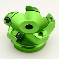 KM12 100 32 5T 45 Degree Aluminium Indexable Face Milling Cutter For SEKT1204 Carbide Inserts Aluminium