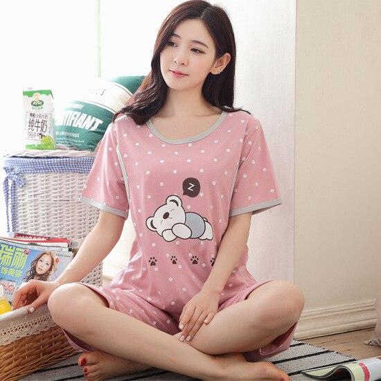 2 Pieces Maternity Sleepwear Breastfeeding Lounge Nursing Pajama Set Pregnant Women Pajamas Summer Maternity Clothes