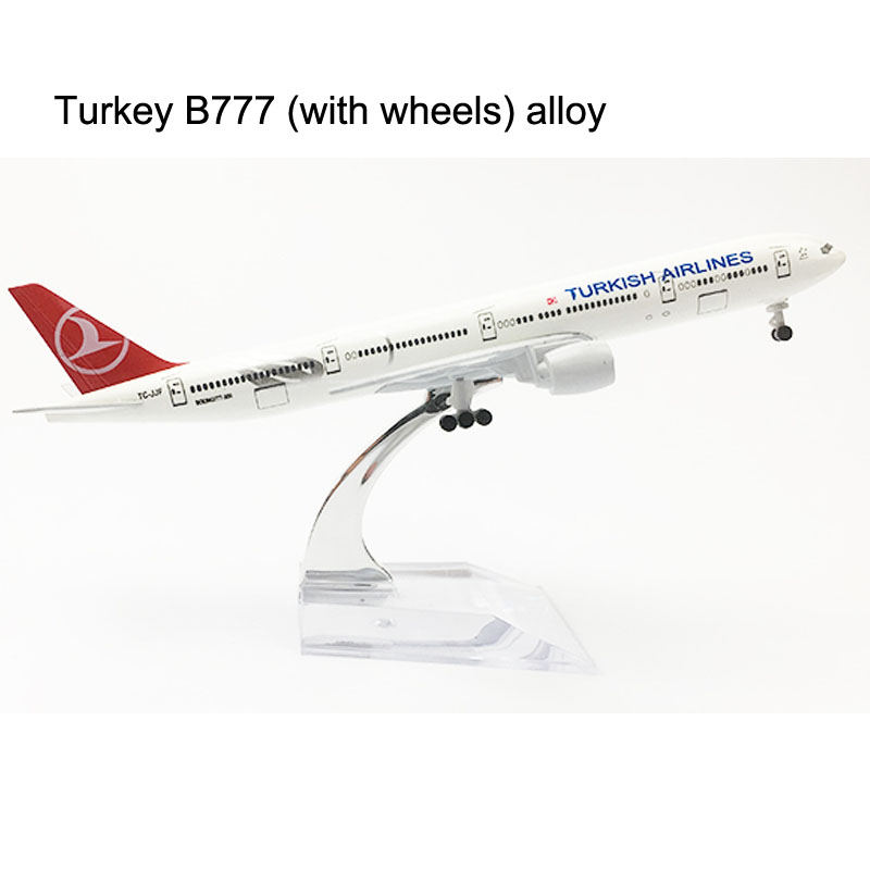20CM Turkish Airlines Boeing 777 Airplane Model Turkey 16CM B777 Plane Model Alloy Metal Diecast Aircraft Model Toy Plane Gift