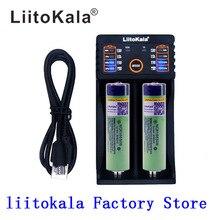2 pcs liitokala 3.7 v 3400 mah 18650 리튬 이온 충전지 (pcb 없음) + Lii 202 usb 26650 18650 aaa aa 스마트 충전기
