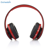 Ouhaobin Fashion Foldable Wireless Bluetooth Headphone Super Stereo Headset Handsfree Headphones Mic For Cell Phone Sep25