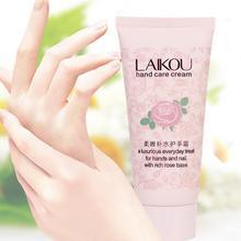 60g Rosa con Rosa Natural Laikou Aceite Loción Nutritiva e Hidratante Suave Crema de Manos Cuidado de las Manos Calientes Nuevo