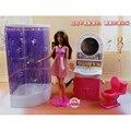 Miniatura Muebles De Baño para Barbie Doll House Juguetes Mejor Regalo para La Muchacha Envío Gratis