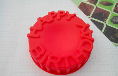 6 Inch Birthday Cake Lollipop Chocolate Cookie Baking Silicone Mold