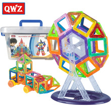 QWZ 400-78PCS Mini Magnetic Building Blocks Toys Models Magnetic Designer Learning Educational Bricks Children Toy For Kids Gift 78pcs magnetic building blocks toys diy models magnetic designer learning educational plastic bricks children toys for kids gift